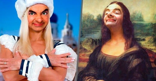 Este ninja del Photoshop sobrepuso la cara de Mr Bean en las pinturas más famosas del mundo
