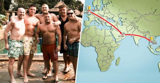 """Amigos fueron por """"Una"""" cerveza al bar y terminaron a 11,000 Km. en Tailandia"""