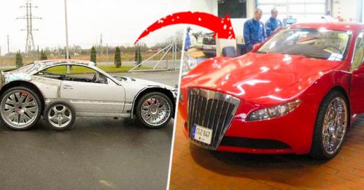 Este hombre fabricó un coche deportivo de lujo con espuma y cartón
