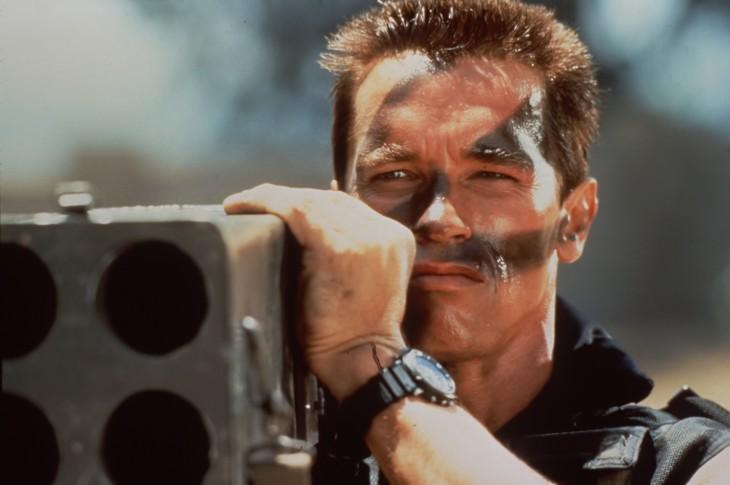 Arnold Schwarzenegger), en Commando
