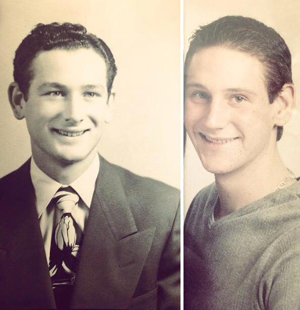 hijo y padre muy parecidos