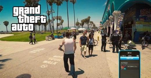 Así es como se vería Grand Theft Auto V en la vida real