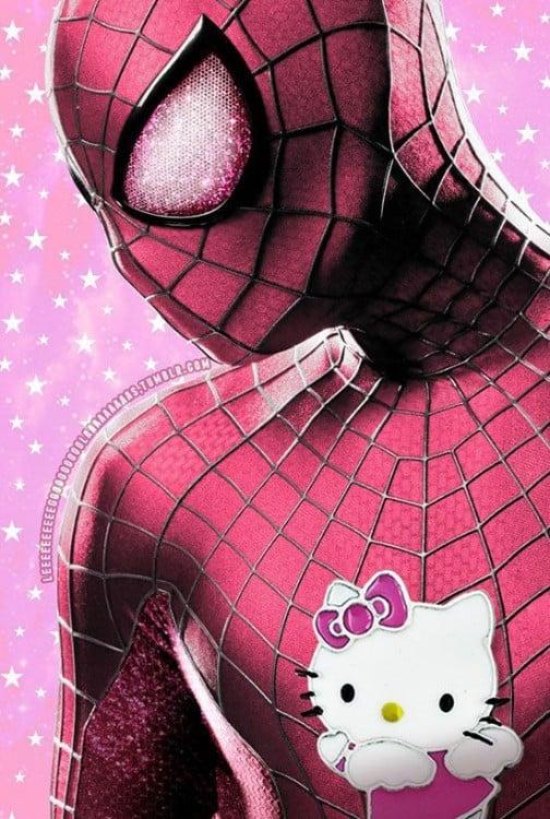 Spiderman de Hello Kitty