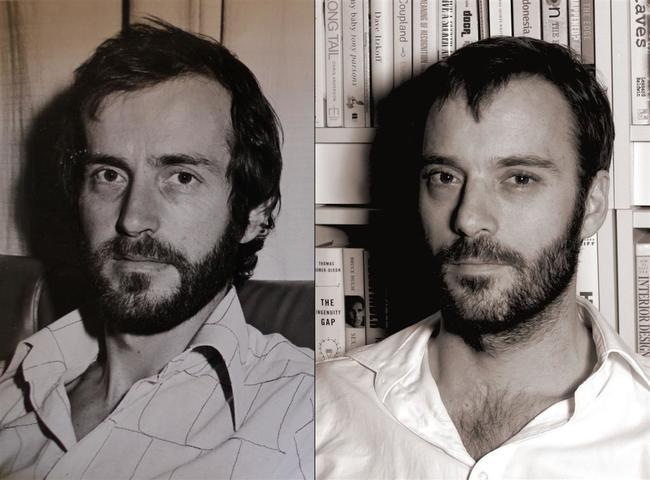 Imagen de padre e hijo parecidos