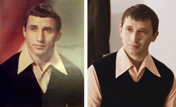 Padre e hijo misma edad y ropa