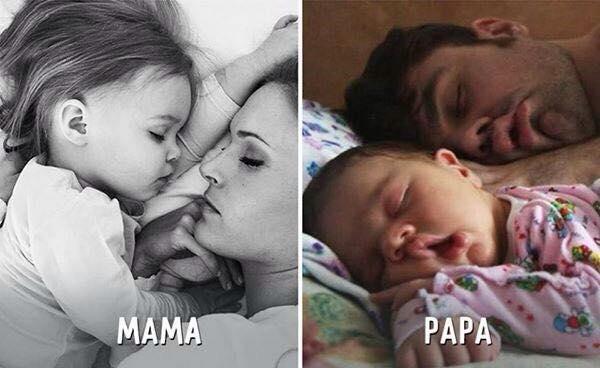 Bebé con mamá y papá