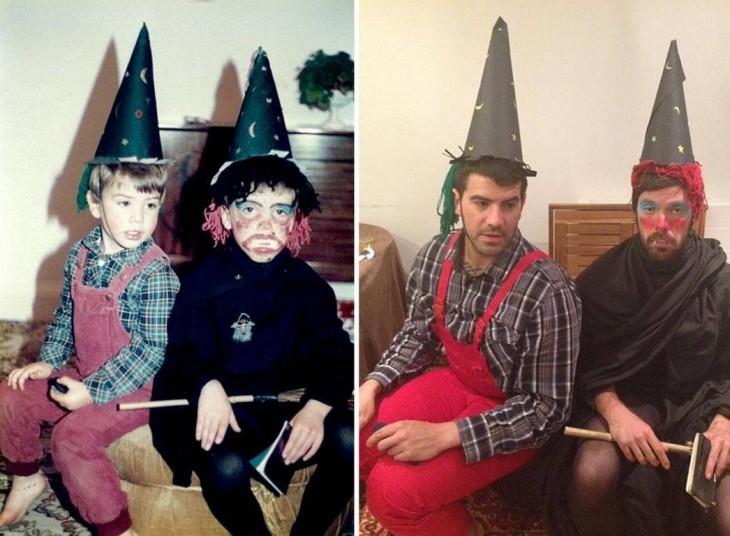Hermanos recrean infancia para su mamá