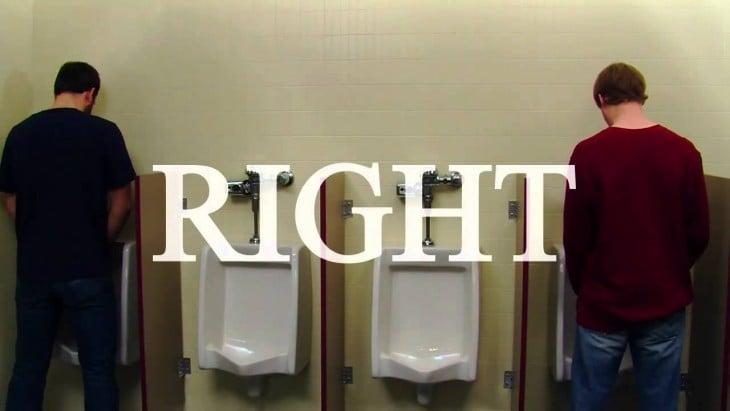 Reglas de etiqueta para el baño zona buffer