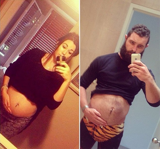Hombre recrea fotos de mujeres en Tinder embarazo