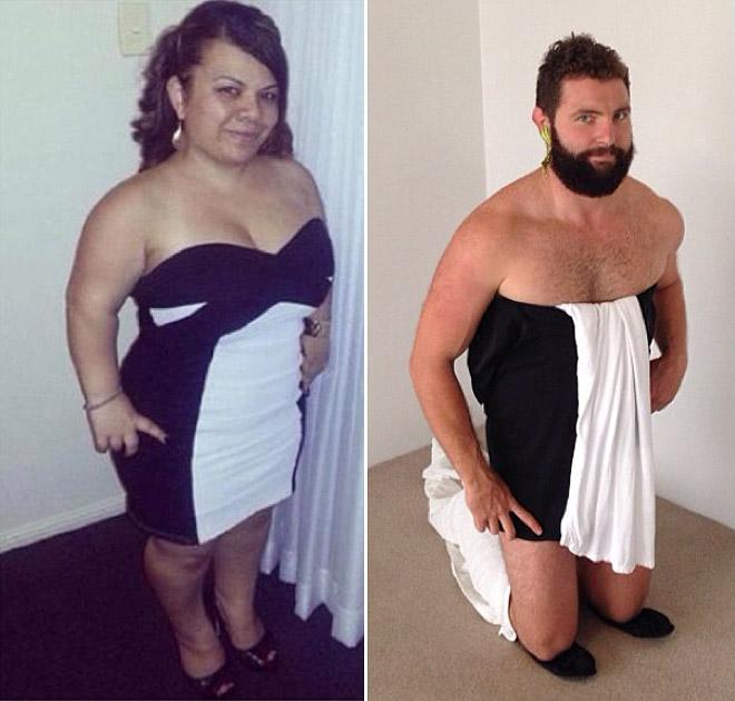 Hombre recrea fotos de mujeres en Tinder vestido 2