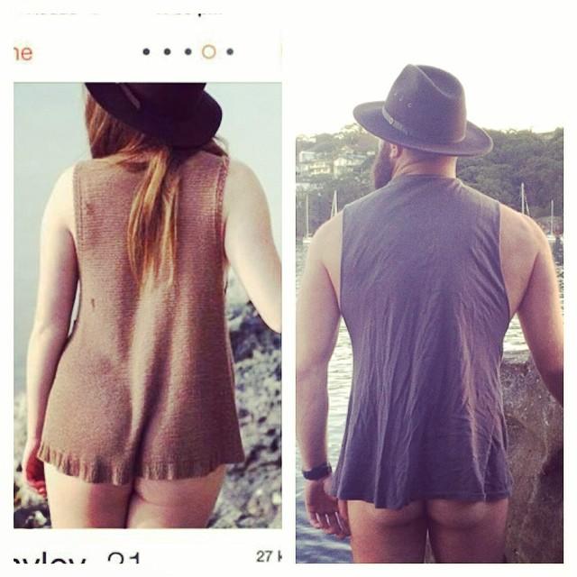 Hombre recrea fotos de mujeres en Tinder sombrero