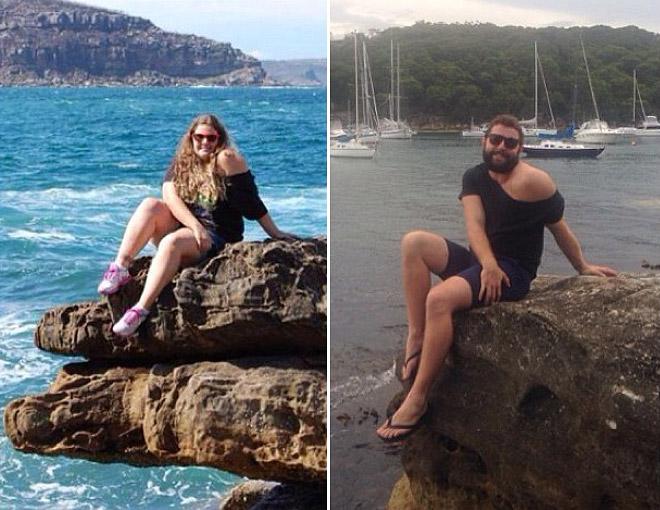 Hombre recrea fotos de mujeres en Tinder mar