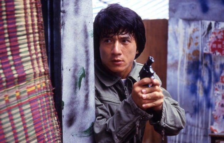 """Sergeant """"Kevin"""" Chan Ka-Kui (Jackie Chan), en Police Story"""
