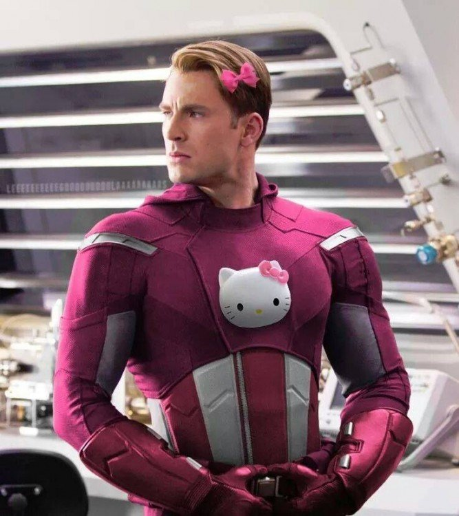 Capitán america de Hello Kitty