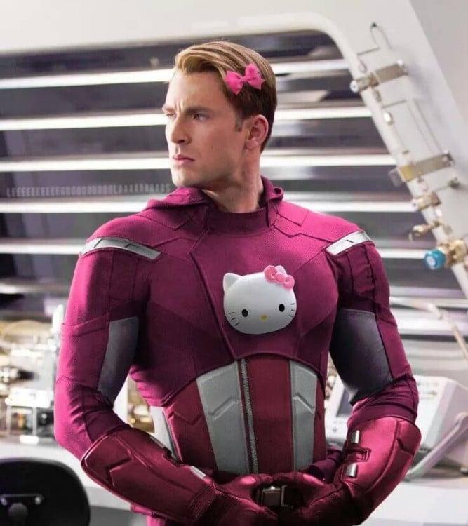 Capitán america de Hello Kitty