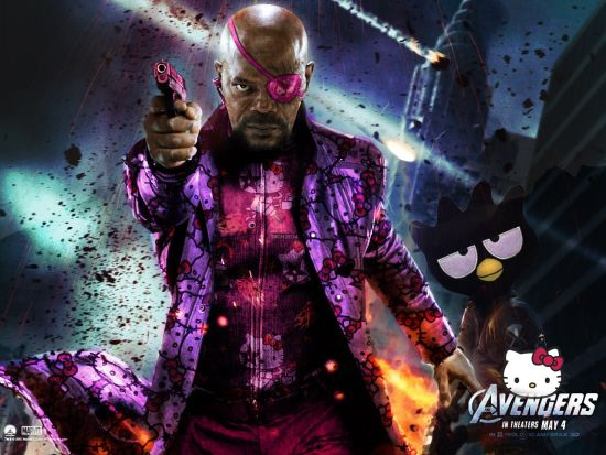Nick Fury de Hello Kitty