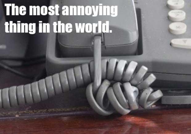 Desenredar el cable del teléfono