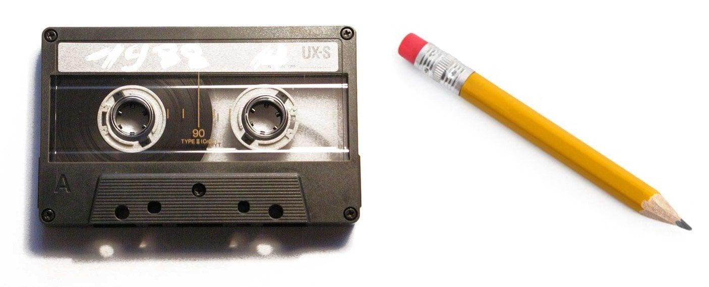 Картинки карандаш и кассета