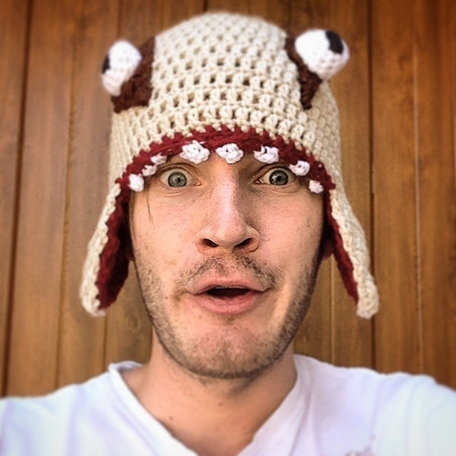 PewDiePie white eyed hat
