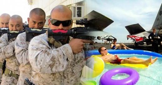 20 fotos que demuestran cómo se divierten los soldados en su tiempo libre
