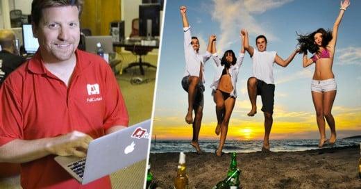 Presidente de compañía paga a sus empleados vacaciones de 7 mil 500 dólares por año para que tomen un viaje