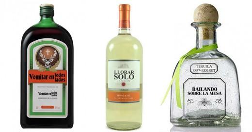 Si las botellas de alcohol fueran honestas, ésto es lo que dirían sus etiquetas