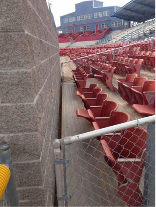 gradas inutiles en estadio