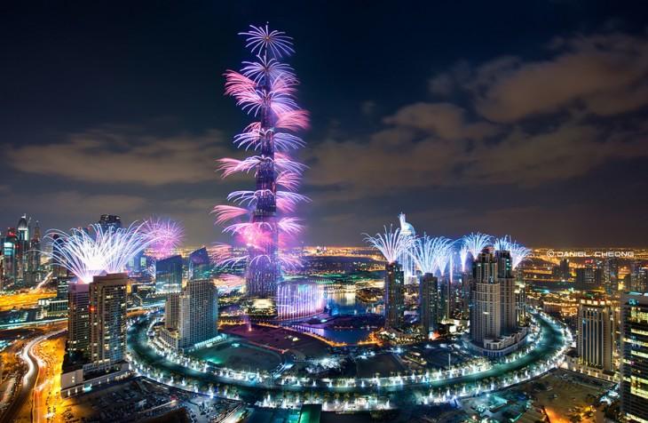 Burj Khalifa Dubai año nuevo