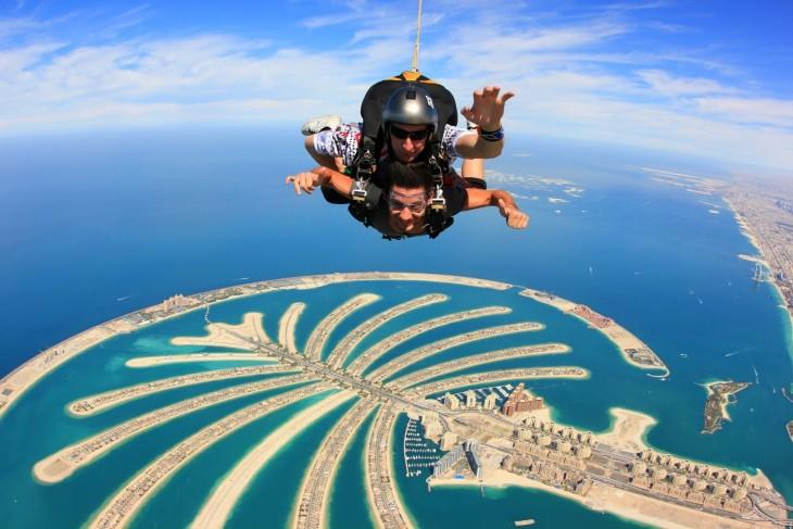 isla palmera dubai paracaidas