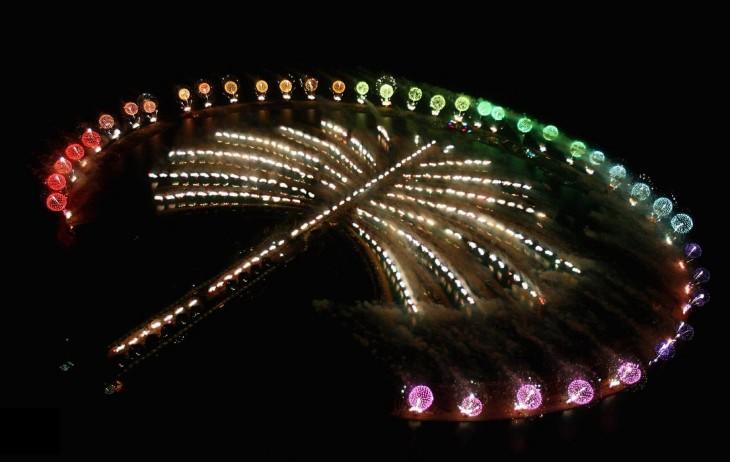 isla palmera dubai año nuevo