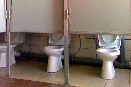 puertas altas en baños publicos