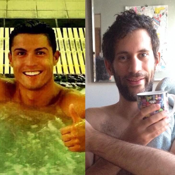 Artista Jon Burgerman photoshop Cristiano Ronaldo