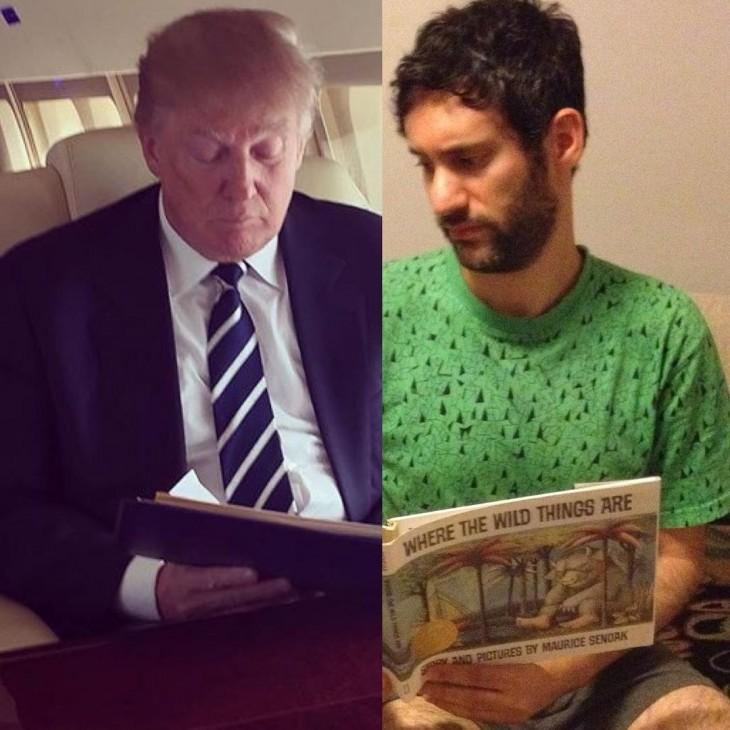 Artista Jon Burgerman photoshop Donald Trump