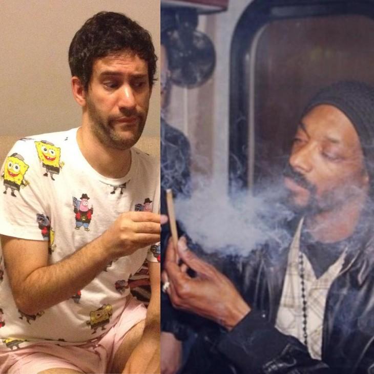 Artista Jon Burgerman photoshop Snoop Dogg