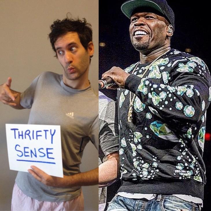 Artista Jon Burgerman photoshop 50 Cent