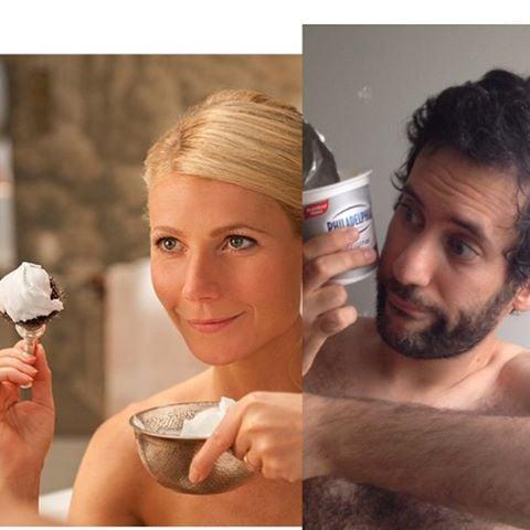 Artista Jon Burgerman photoshop Gwyneth Paltrow