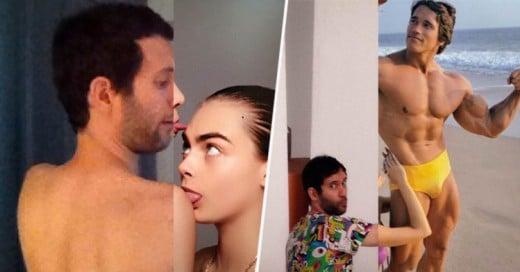 Artista crea graciosos photoshops de él junto a grandes celebridades