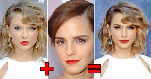 Así se verían los famosos si mezclaran sus rostros ¡Increíble!
