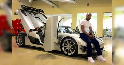 Mayweather presume su nuevo auto de 4.8 millones de dólares; es el más caro del mundo