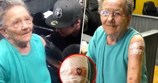 Abuela de 79 años escapa de asilo para tatuarse ¡Por primera vez!