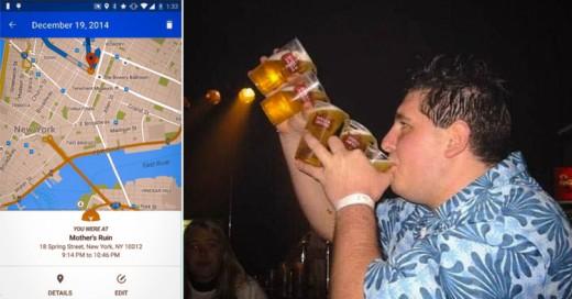 Aplicación para recordar dónde estuviste de fiesta la noche anterior