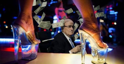 Batalla de photoshop centrada en: Joseph Blatter