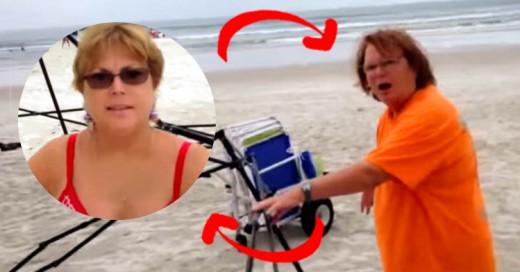 Así reaccionaron dos señoras cuando las descubrieron robando en la playa