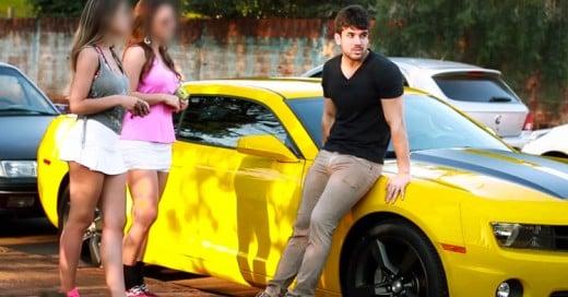 Cámara escondida con autos deportivos expone a Mujeres Interesadas