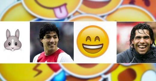 Así se verían estos 10 futbolistas si fueran Emojis ¡Suárez y Tévez son idénticos!