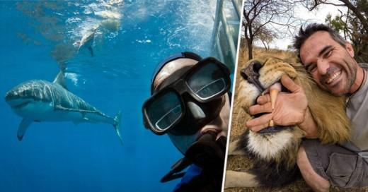 ¡Las 15 selfies más extremas con animales salvajes!