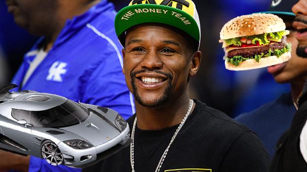 Mayweather presume su nuevo auto de 4.8 millones de dólares