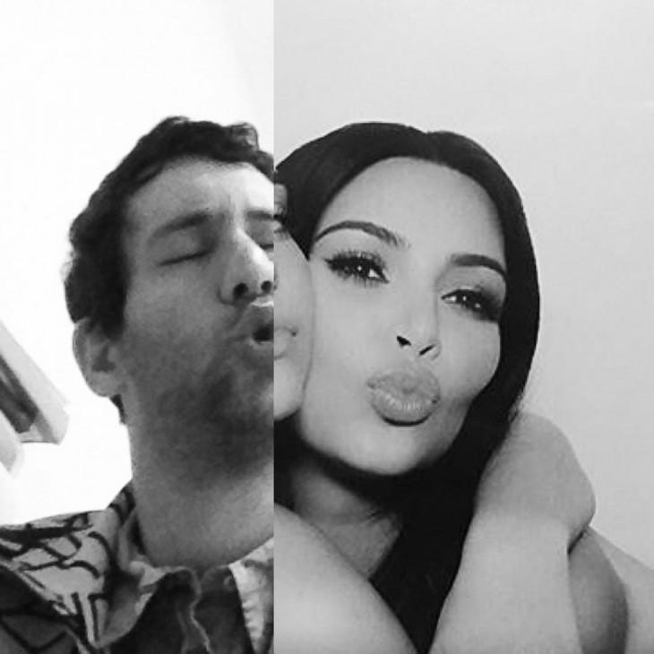 Artista Jon Burgerman photoshop Kim Kardashian