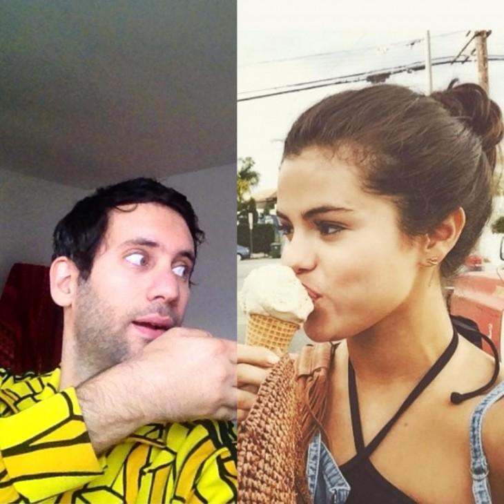 Artista Jon Burgerman photoshop Selena Gomez