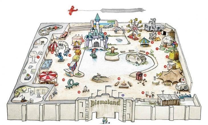 mapa de dismaland banksy